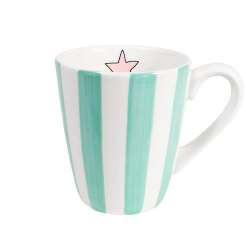 Mug Mint Stripe 0,35L