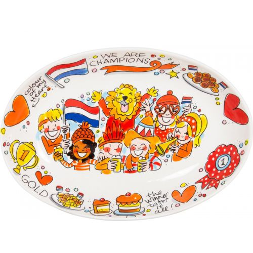 Ovale schaal Oranje ⌀28.5cm