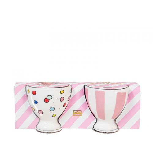 Set of 2 Egg Cups Confetti & Stripes