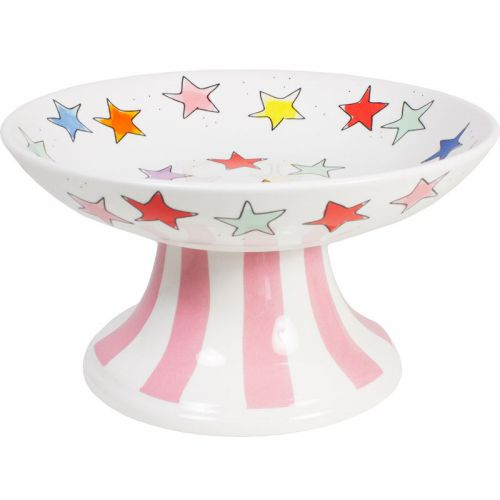 Bowl on foot ø23cm Stars