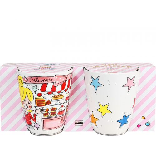 Set of 2 Birthday Mugs 0,35L