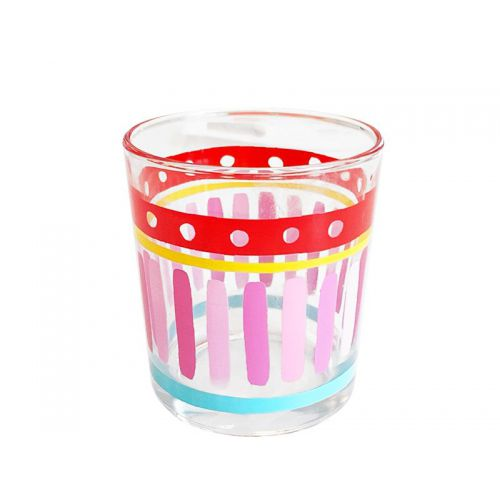 Glas - uni, Pink Stripe