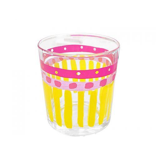 Glas - uni, Yellow Stripe