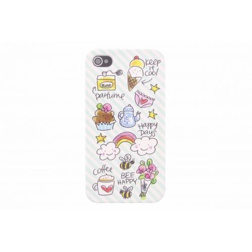 iPhone case 4/4s groen - Happy Days