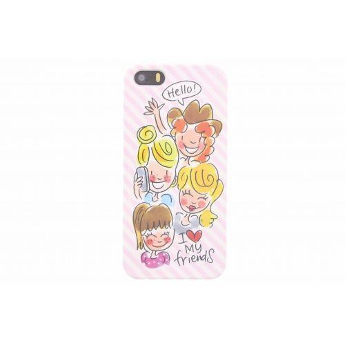 iPhone case 5/5s licht roze - I love my friends