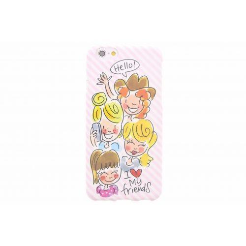 iPhone case 6/6s licht roze - I love my friends