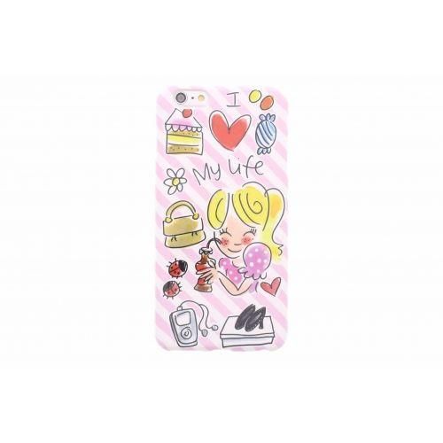 iPhone case 6 plus/6s plus roze - I love my life