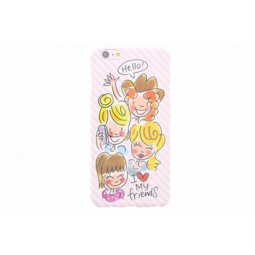 iPhone case 6 plus/6s plus licht roze - I love my friends