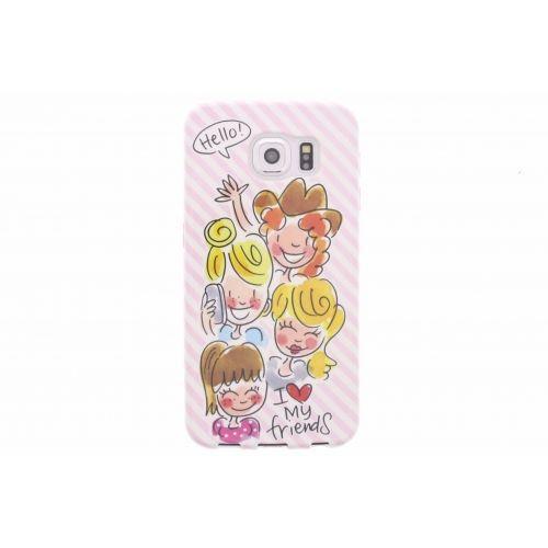 Samsung Galaxy case S6 soft pink - I love my friends