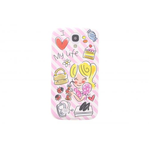 Samsung Galaxy case S4 pink - I love my life