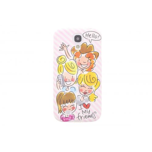 Samsung Galaxy case S4 licht roze - I love my friends
