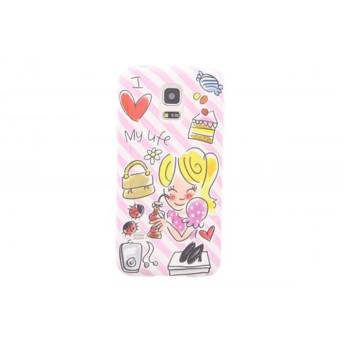 Samsung Galaxy case S5 mini pink - I love my life
