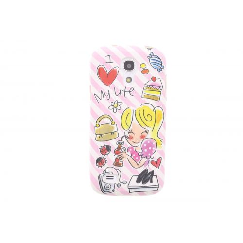 Samsung Galaxy case S4 mini roze- I love my life