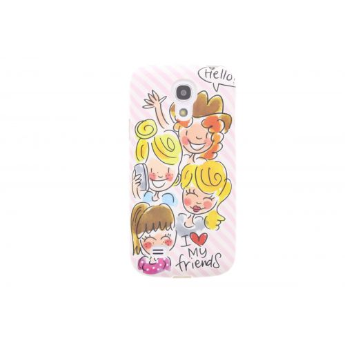 Samsung Galaxy S4 mini licht roze - I love my friends