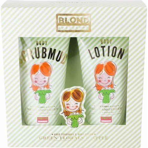 Body scrubmud & body lotion 'Green Florals