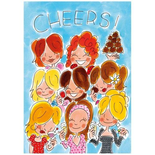 A4 Card - cheers meisjes