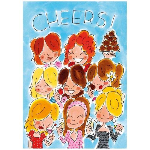 A4 Kaart - cheers meisjes