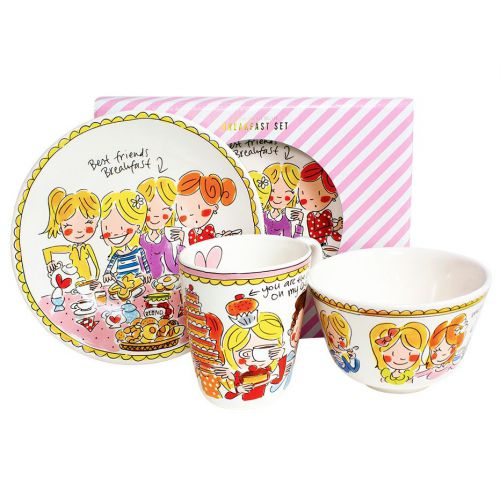 Breakfast Set 3-piece Pink Girls