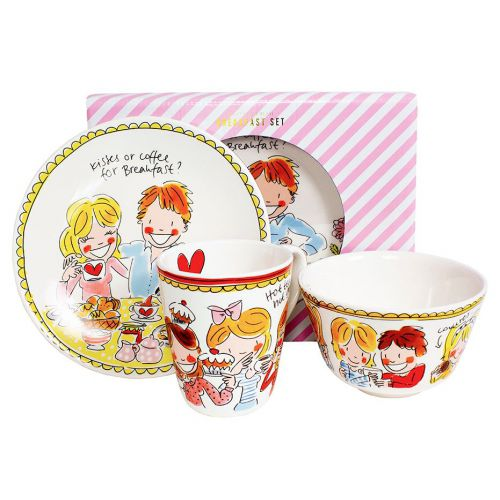 Breakfast set 3-piece Red Love