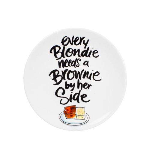 Blond Café Plate 22 cm, Blondie Brownie