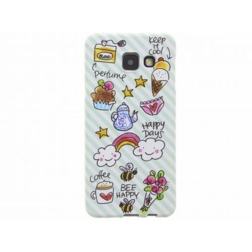 Samsung Galaxy case A3 (2016) groen - Happy days