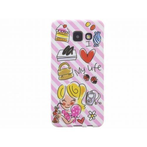 Samsung Galaxy case A3 (2016) roze - I love my life