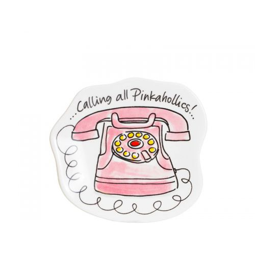 3D Bordje Pink Telephone