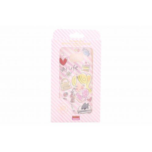Samsung Galaxy Case S6 edge plus roze - I love my life