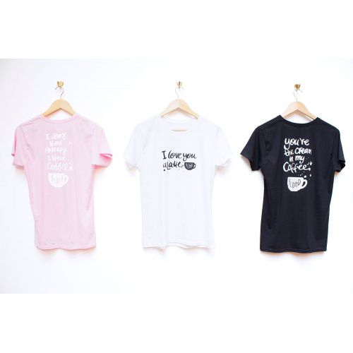 T-shirt Café Blond White L
