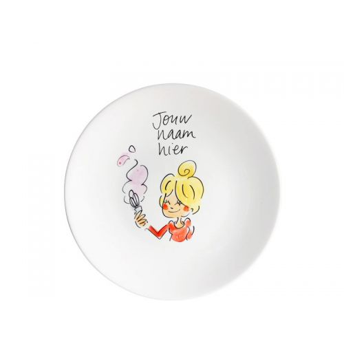 Personalised cake plate blond hair