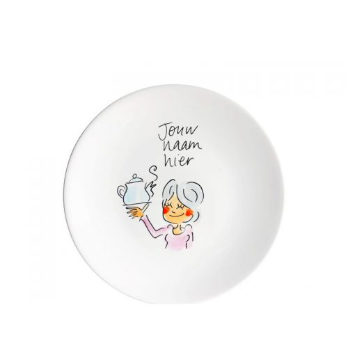 Personalised cake plate gray hair